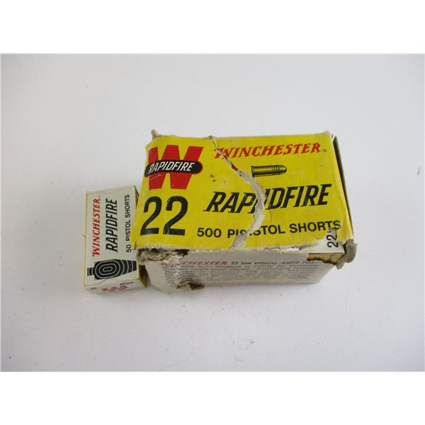 .22 SHORT, WINCHESTER RAPIDFIRE COLLECTIBLE AMMO