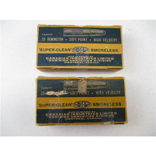 .35 REM, DOMINON COLLECTIBLE AMMO