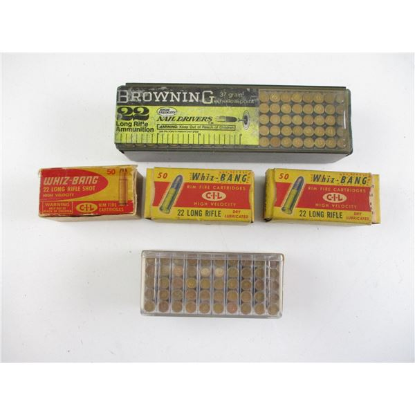 ASSORTED COLLECTIBLE .22 AMMO