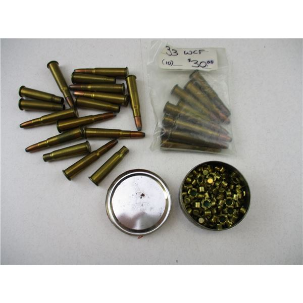 ASSORTED COLLECTIBLE AMMO AND PRIMER LOT