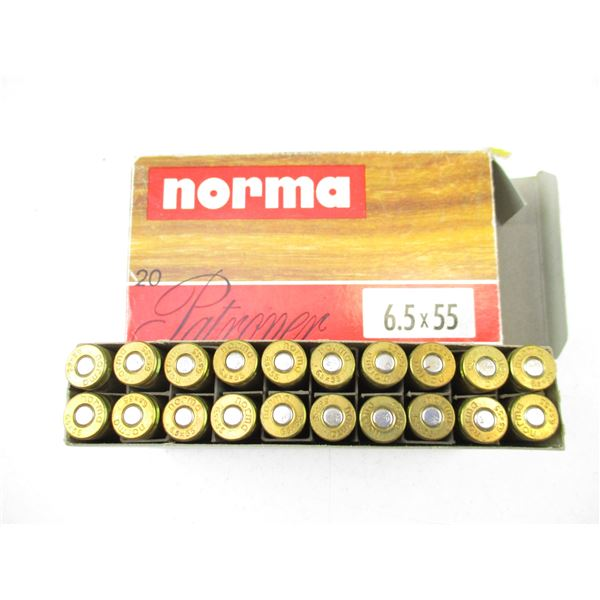 6.5X55MM, NORMA AMMO