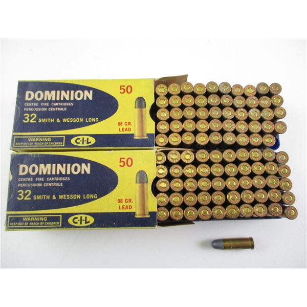 .32 SMITH & WESSON LONG, DOMINION