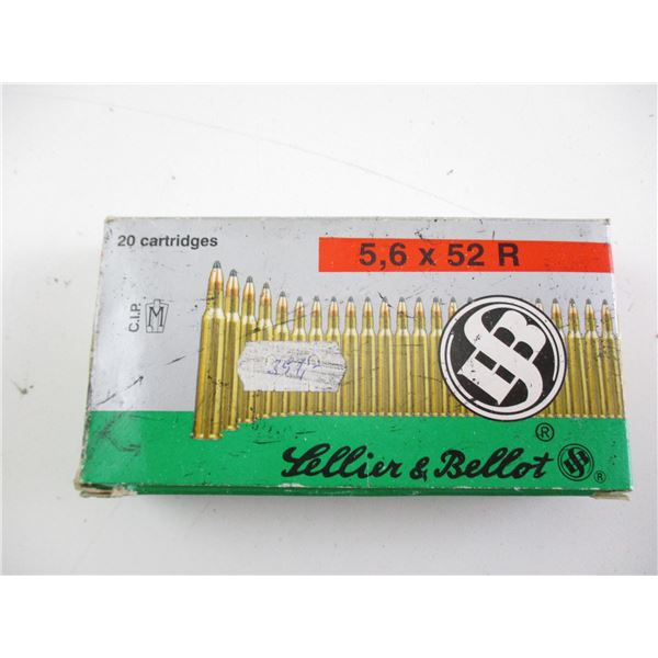 5.6X52R SELLIER & BELLOT AMMO