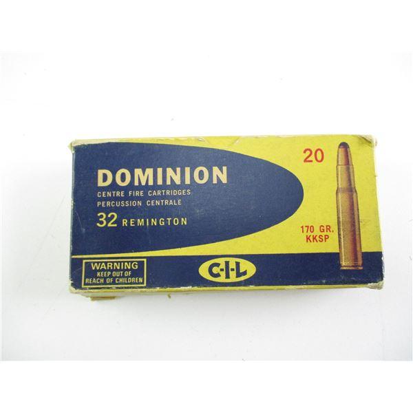 .32 REM, DOMINION AMMO