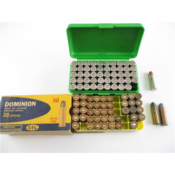 ASSORTED .38 SPECIAL AMMO