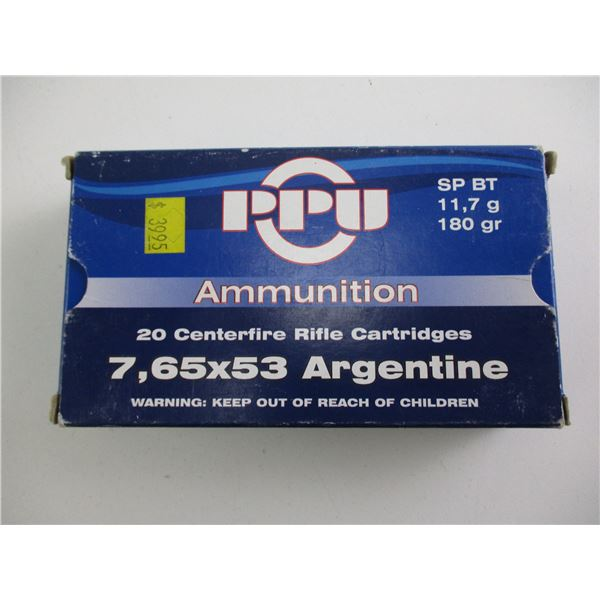 7.65X53 ARGENTINE, PPU AMMO