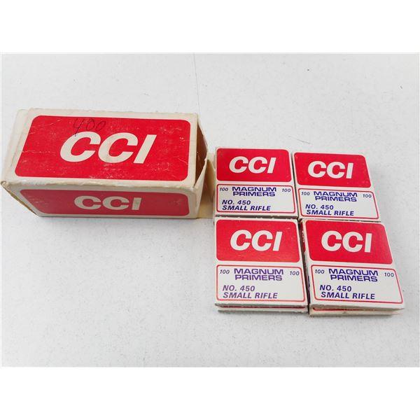 CCI, NO 450, SMALL MAGNUM RIFLE PRIMERS