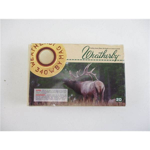 .340 WBY MAG, WEATHERBY AMMO