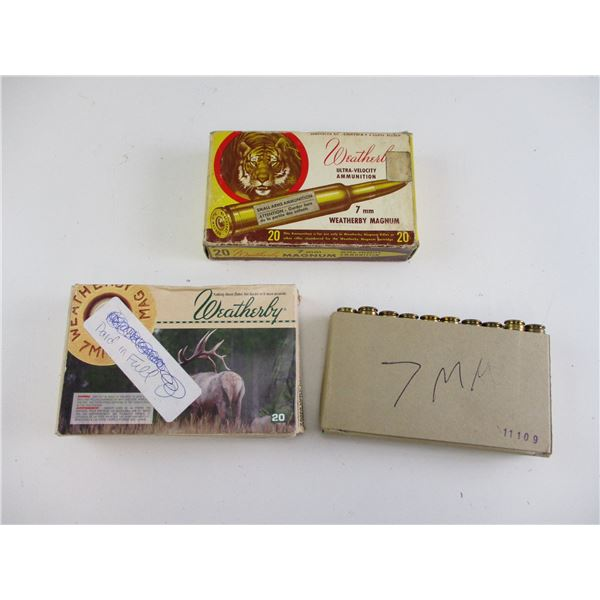 ASSORTED 7MM WEATHERBY MAG AMMO
