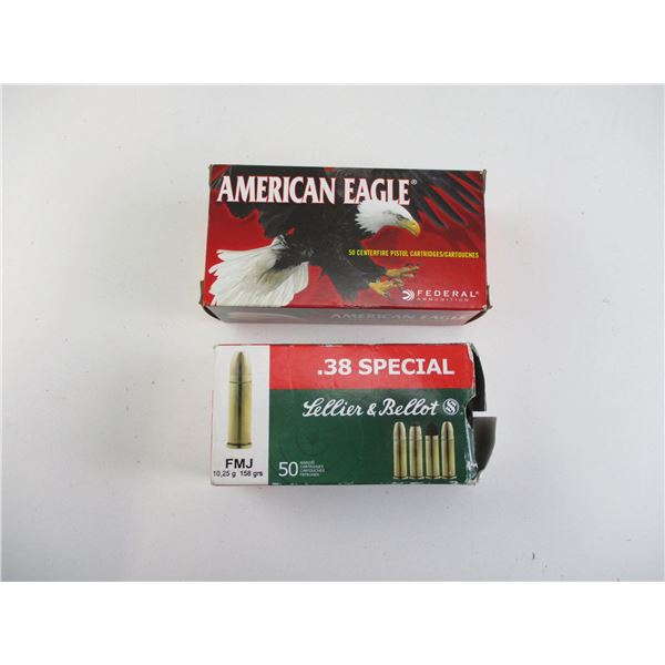 ASSORTED .38 SPECIAL AMMO LOT