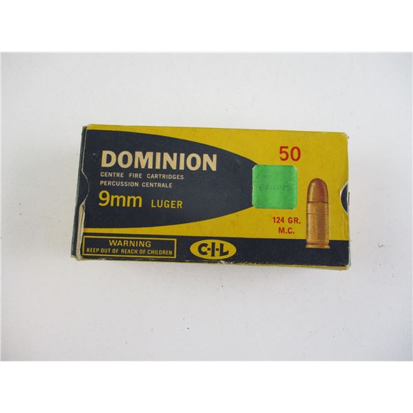 9MM LUGER, DOMINION AMMO