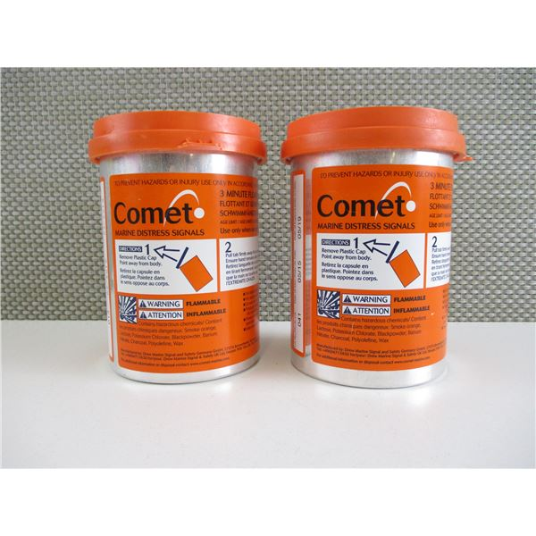 EXPIRED COMET MARINE DISTRESS FLARES