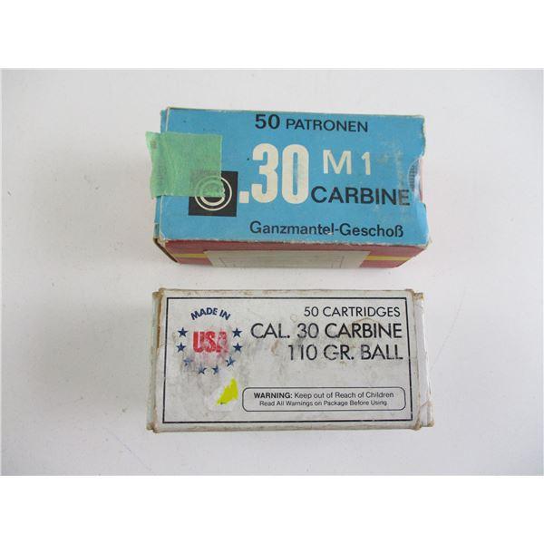ASSORTED .30 CARBINE AMMO