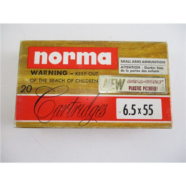 6.5X55, NORMA AMMO