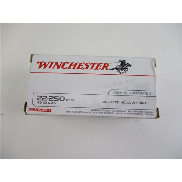 22-250 REM, WINCHESTER AMMO