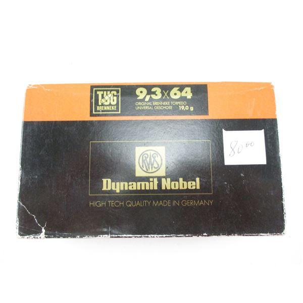 9.3X64 RWS DYNAMIT NOBEL AMMO