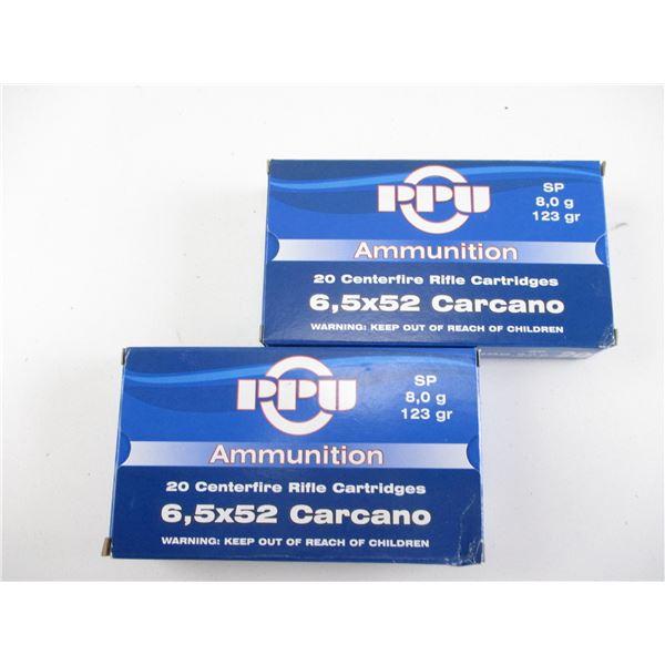 6.5X52 CARCANO, PPU AMMO