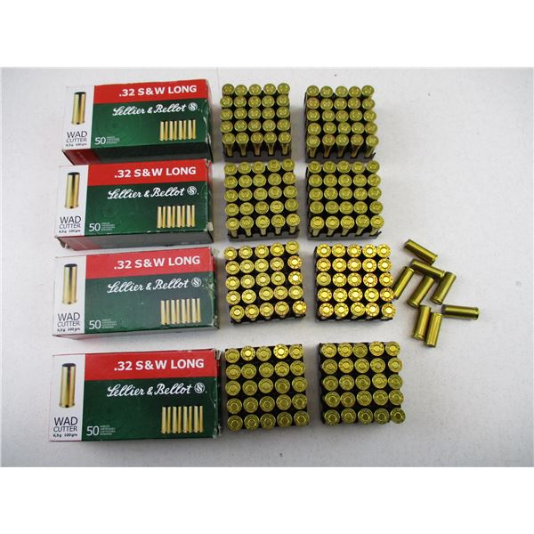 .32 SMITH & WESSON LONG, SELLIER & BELLOT AMMO