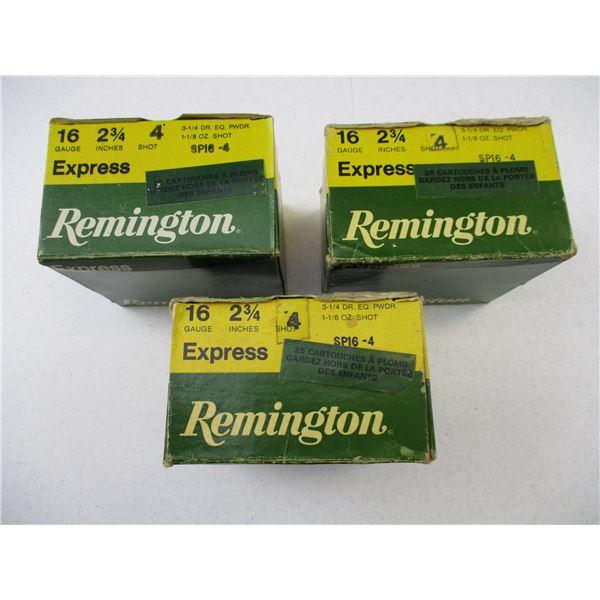 16 GA, REMINGTON EXPRESS SHOT SHELLS