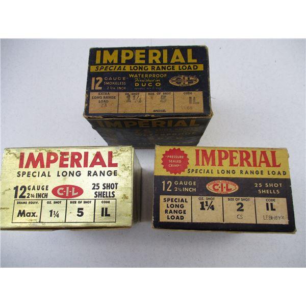 ASSORTED 12 GA, IMPERIAL SHOT SHELLS