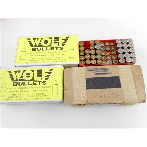 ASSORTED RELOADED AND FACTORY AMMO LOT