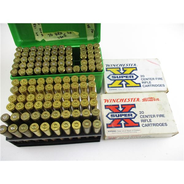ASSORTED .338 WIN MAG, RELOADED AMMO