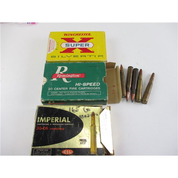 ASSORTED 30-06 SPRG, RELOADED AMMO