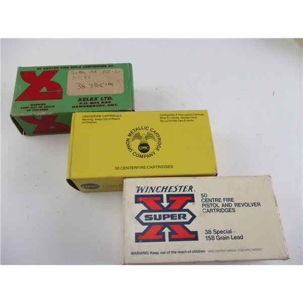 ASSORTED .38 SPECIAL, RELOADED AMMO