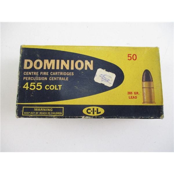 455 COLT, FACTORY RELOADED AMMO