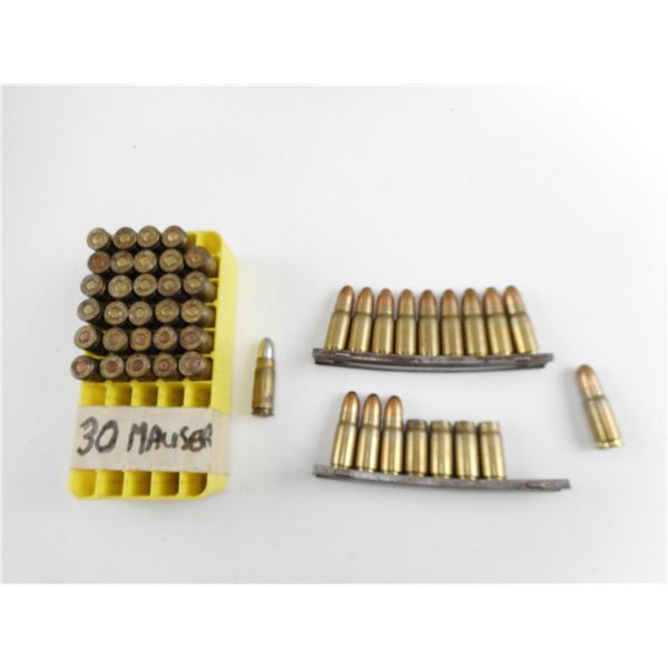 ASSORTED .30 MAUSER MILITARY AMMO