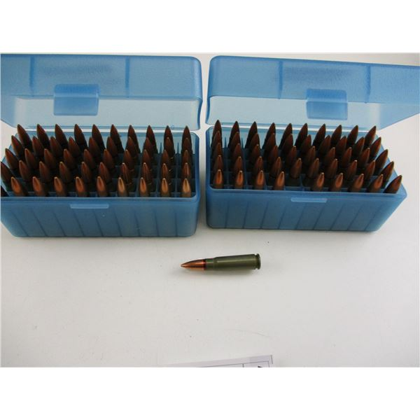 ASSORTED 7.62X39MM, FMJ MILITARY AMMO