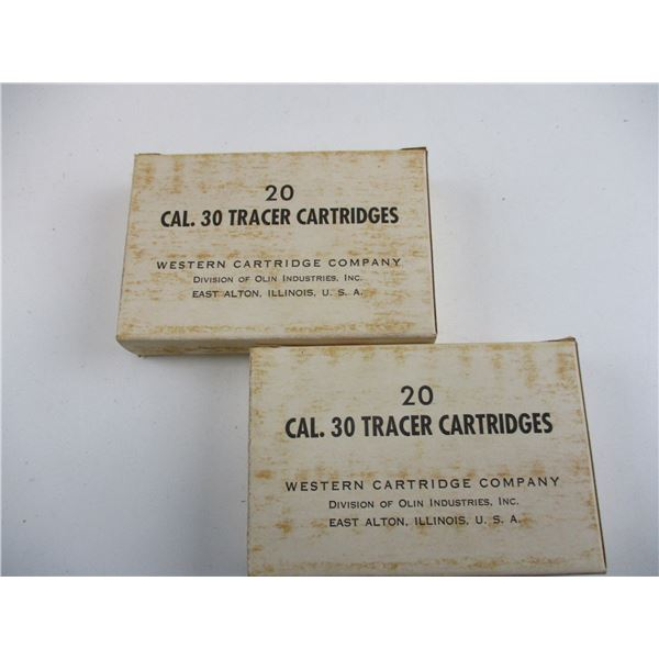 30-06, US 1950'S, TRACER MILITARY AMMO