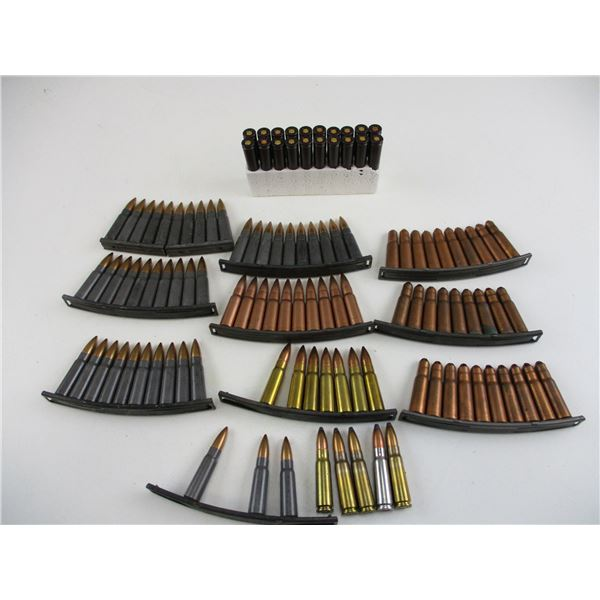 ASSORTED 7.62X39MM, MILITARY AMMO