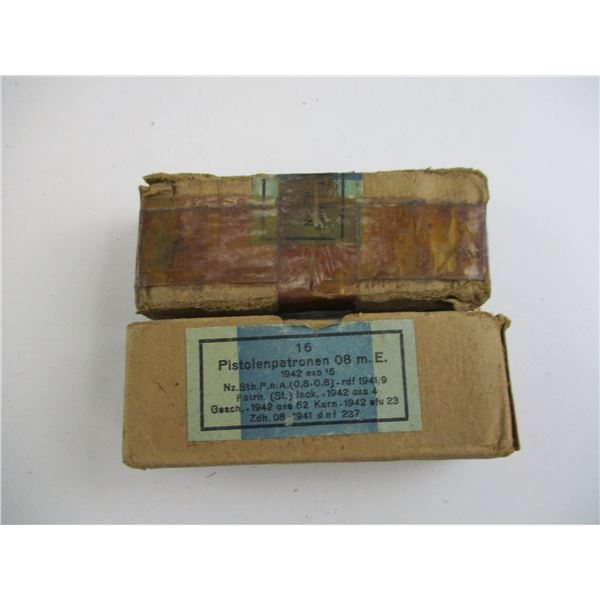 9MM LUGER, WWII GERMAN, MILITARY AMMO