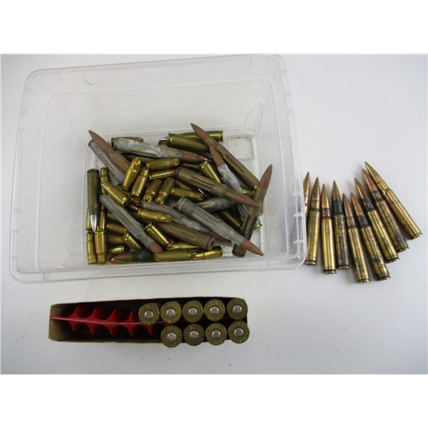 ASSORTED AMMO LOT, INCLUDING MILITARY AMMO
