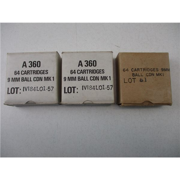 9MM, CANADIAN MK1 MILITARY AMMO