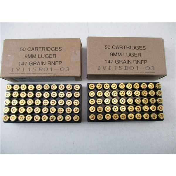 9MM LUGER, RNFP MILITARY AMMO