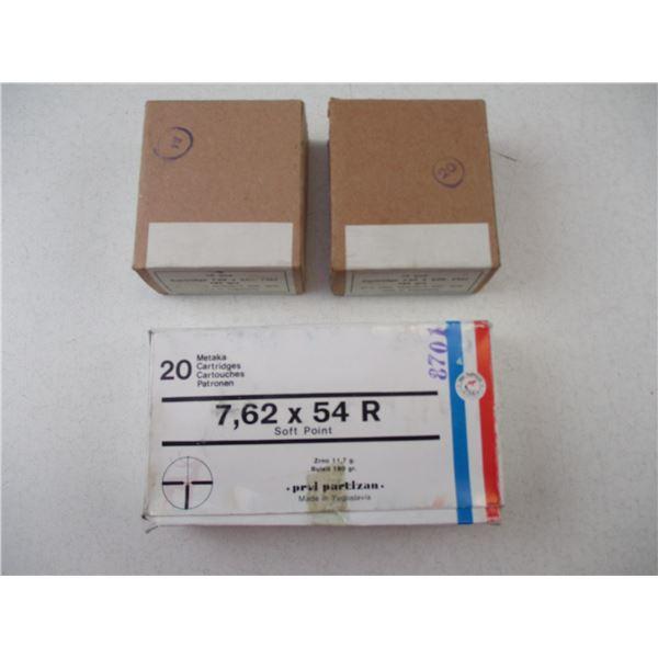 7.62X54R FMJ MILITARY AMMO