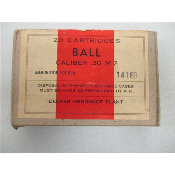 .30 M2 BALL, MILITARY AMMO