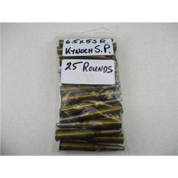6.5X53 R, KYNOCH MILITARY AMMO