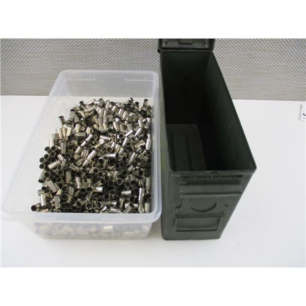 ASSORTED 9MM LUGER, NICKEL CASES