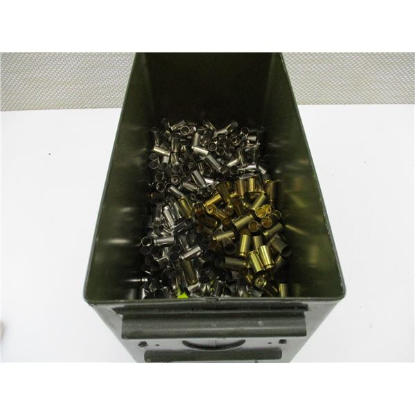 ASSORTED .40 SMITH & WESSON, BRASS AND NICKEL CASES