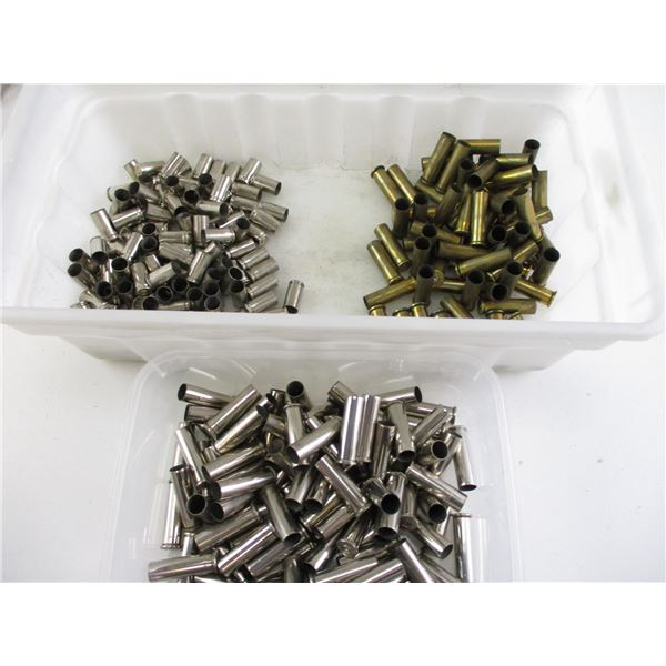 ASSORTED .357 AND 9MM BRASS AND NICKEL CASES
