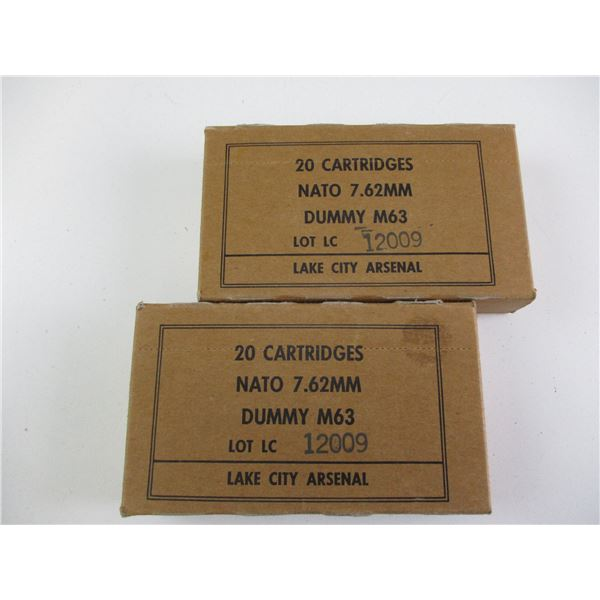 7.62 NATO, US MILITARY DUMMY RNDS