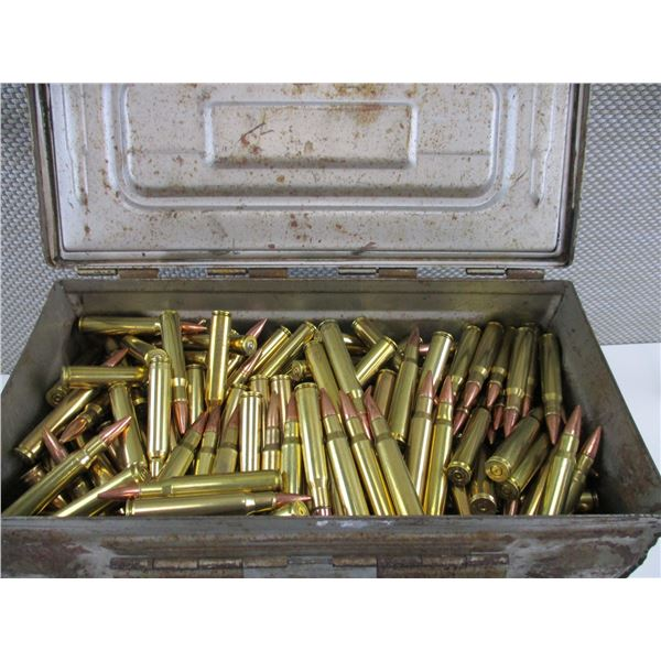 ASSORTED 30-06, BULLET AND BRASS CASE LOT
