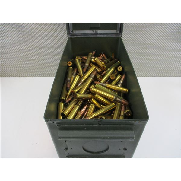 ASSORTED 30-06, AP/FMJ BULLET AND BRASS CASE LOT
