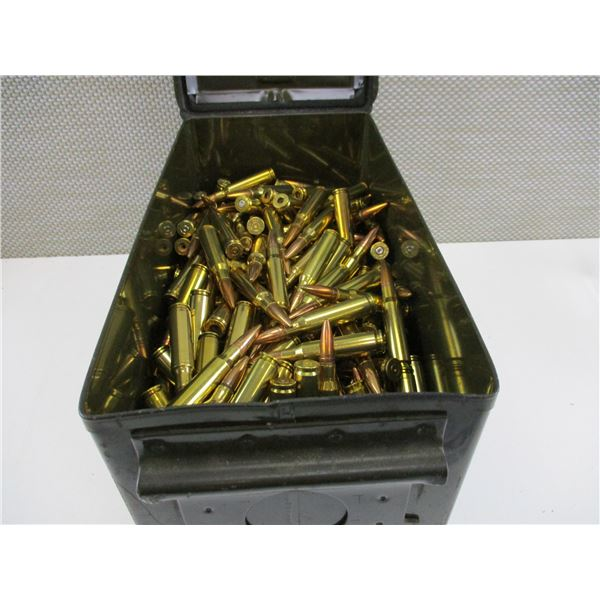 ASSORTED .308 CAL, BULLET AND BRASS CASE LOT
