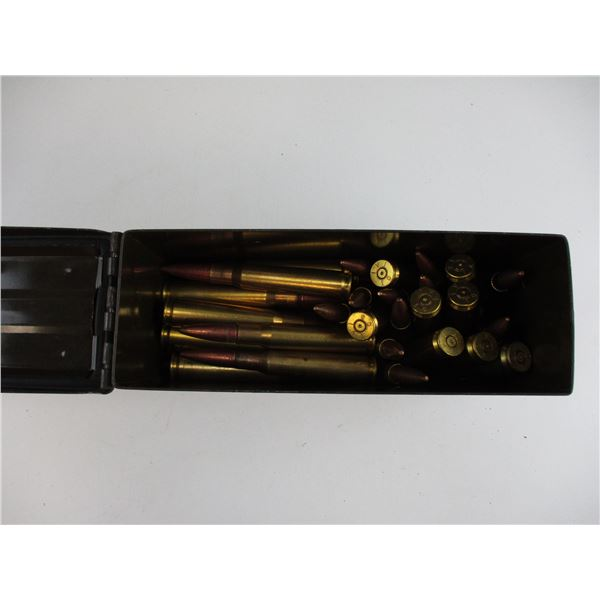 ASSORTED .50 BMG, BULLET AND BRASS CASE LOT