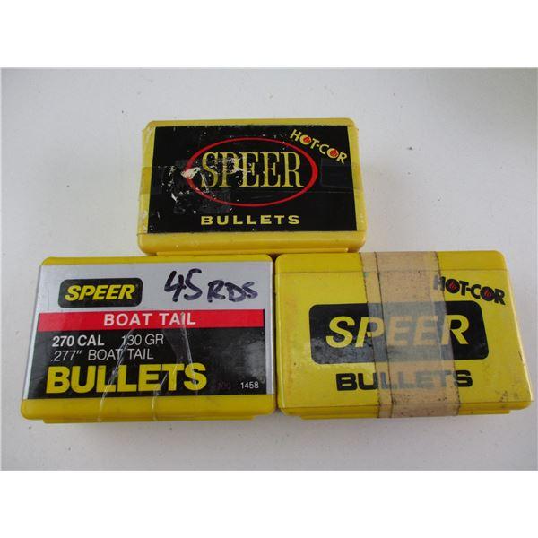 ASSORTED .270 CAL SPEER BULLETS
