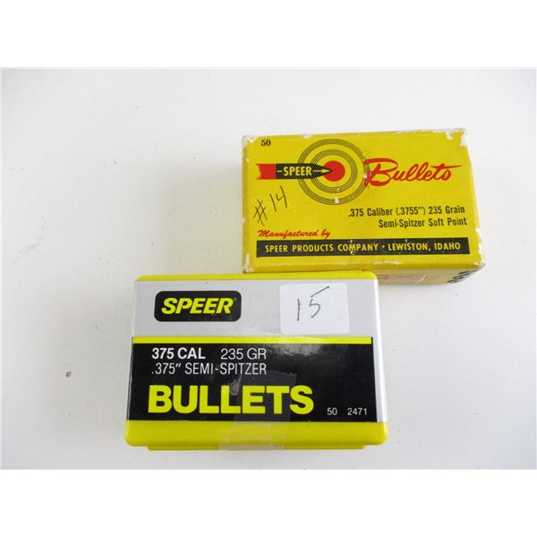 ASSORTED .375 CAL SPEER BULLETS
